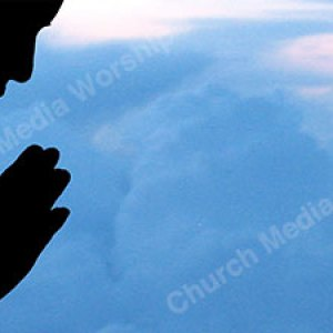 Woman praying to heaven Christian Worship Background. High quality worship images for use to spread the Gospel and enhance the worship experience.
