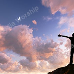 Worship God on a mountain Christian Worship Background. High quality worship images for use to spread the Gospel and enhance the worship experience.
