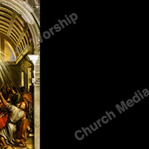 Pentecost painting black Christian Worship Background. High quality worship images for use to spread the Gospel and enhance the worship experience.