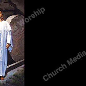 Stone rolled away V2 black Christian Worship Background. High quality worship images for use to spread the Gospel and enhance the worship experience.