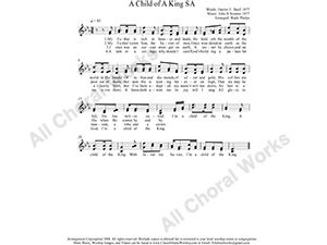 A Child of A King Female Choir Sheet Music SA 2-part Make unlimited copies of sheet music and the practice music.