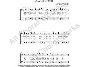 Abide with Me Male Choir Sheet Music TTBB 4-part Make unlimited copies of sheet music and the practice music.