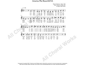America The Beautiful Female Choir Sheet Music SA 2-part Make unlimited copies of sheet music and the practice music.