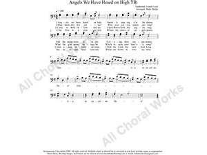 Angels We have Heard on High Male Choir Sheet Music TB 2-part Make unlimited copies of sheet music and the practice music.