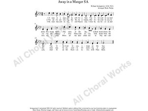 Away in a manger Female Choir Sheet Music SA 2-part Make unlimited copies of sheet music and the practice music.