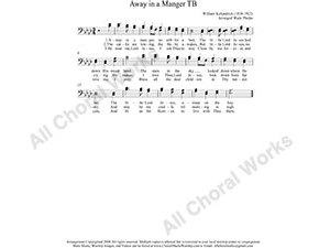 Away in a manger Male Choir Sheet Music TB 2-part Make unlimited copies of sheet music and the practice music.