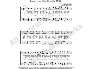 Battle Hymn Male Choir Sheet Music TTBB 4-part Make unlimited copies of sheet music and the practice music.