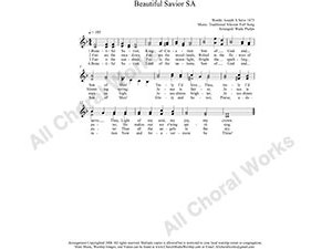 Beautiful Savior Female Choir Sheet Music SA 2-part Make unlimited copies of sheet music and the practice music.