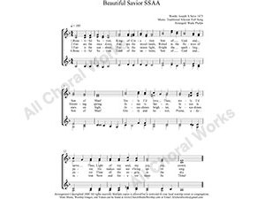 Beautiful Savior Female Choir Sheet Music SSAA 4-part Make unlimited copies of sheet music and the practice music.