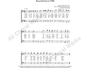 Beautiful Savior Male Choir Sheet Music TBB 3-part Make unlimited copies of sheet music and the practice music.