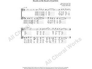 Breathe On Me Breath of God Female Choir Sheet Music SSA 3-part Make unlimited copies of sheet music and the practice music.