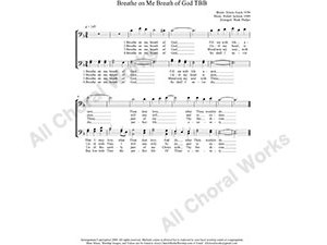 Breathe On Me Breath of God Male Choir Sheet Music TBB 3-part Make unlimited copies of sheet music and the practice music.