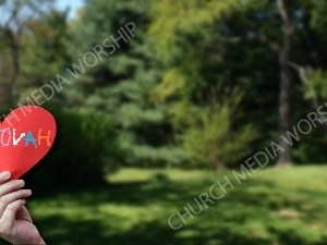 Child holding paper heart Jehovah Christian Background Images HD