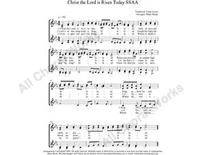 Christ the Lord is Risen Today Female Choir Sheet Music SSAA 4-part Make unlimited copies of sheet music and the practice music.