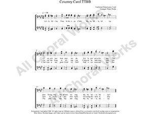 Coventry Carol Male Choir Sheet Music TTBB 4-part Make unlimited copies of sheet music and the practice music.