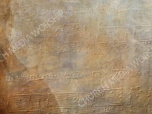 Embossed noted above faded violin Christian Worship Background. High quality worship images for use to spread the Gospel and enhance the worship experience.