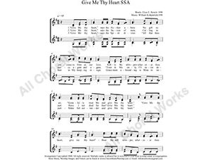 Give me thy heart Female Choir Sheet Music SSAA 4-part Make unlimited copies of sheet music and the practice music.
