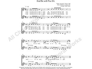 God Be with You Female Choir Sheet Music SA 2-part Make unlimited copies of sheet music and the practice music.