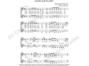 God Be with You Female Choir Sheet Music SSA 3-part Make unlimited copies of sheet music and the practice music.