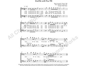 God Be with You Male Choir Sheet Music TB 2-part Make unlimited copies of sheet music and the practice music.