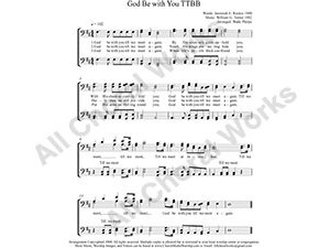 God Be with You Male Choir Sheet Music TTBB 4-part Make unlimited copies of sheet music and the practice music.