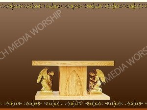 Golden Frame - Altar with Angels - Bronze Christian Background Images HD