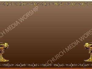 Golden Frame - Chalice - Bronze Christian Background Images HD