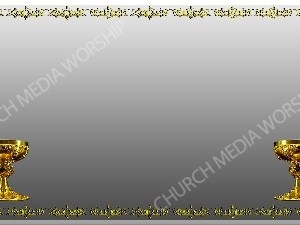 Golden Frame - Chalice - Silver Christian Background Images HD