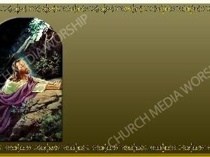 Golden Frame - Gethsemane prayer - Gold Christian Background Images HD