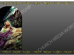 Golden Frame - Gethsemane prayer - Platinum Christian Background Images HD