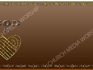 Golden Frame - God is Love - Bronze Christian Background Images HD