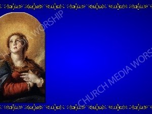 Golden Frame - Immaculate Conception - Blue Christian Background Images HD