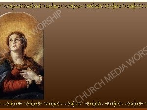 Golden Frame - Immaculate Conception - Bronze Christian Background Images HD