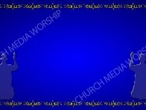 Golden Frame - Kneeling in Prayer - Blue Christian Background Images HD