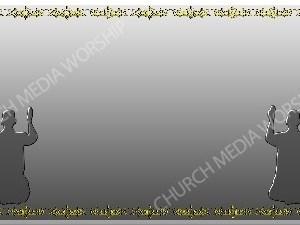 Golden Frame - Kneeling in Prayer - Silver Christian Background Images HD
