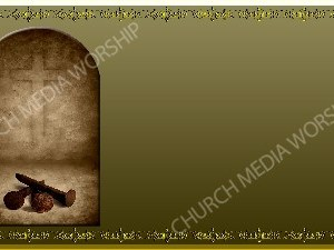 Golden Frame - Nails to the Cross - Gold Christian Background Images HD