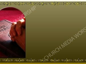 Golden Frame - Praying with the Bible - Gold Christian Background Images HD