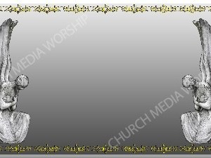 Golden Frame - Stone Angels - Silver Christian Background Images HD