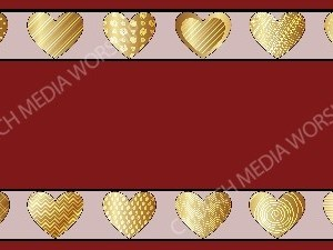 Golden Hearts of love Burgundy Christian Background Images HD