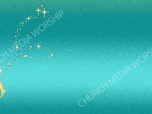 Golden Note - Teal Christian Background Image HD