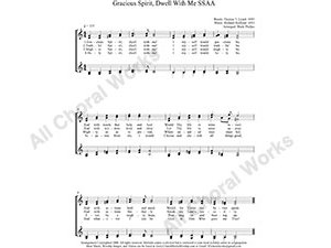 Gracious Spirit Dwell With Me Female Choir Sheet Music SSAA 4-part Make unlimited copies of sheet music and the practice music.