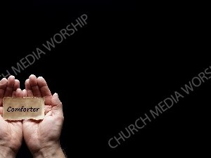 Hand holding a precious secret - Comforter Christian Worship Background. High quality worship images for use to spread the Gospel and enhance the worship experience.