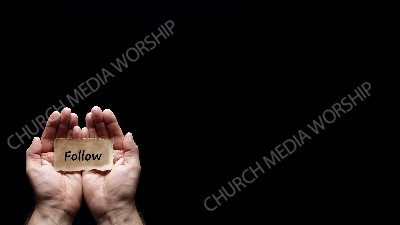 Hand holding a precious secret - Follow Christian Worship Background. High quality worship images for use to spread the Gospel and enhance the worship experience.