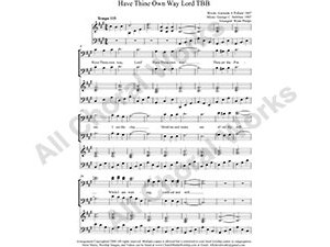 Have Thine Own Way Lord with Piano Female Choir Sheet Music SA 2-part Make unlimited copies of sheet music and the practice music.