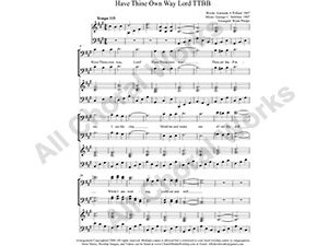 Have Thine Own Way Lord with Piano Male Choir Sheet Music TTBB 4-part Make unlimited copies of sheet music and the practice music.