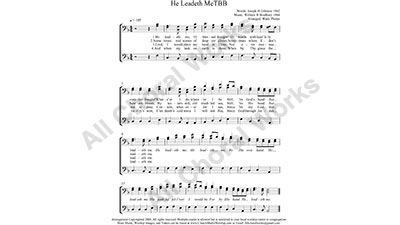 He Leadeth Me Male Choir Sheet Music TBB 3-part Make unlimited copies of sheet music and the practice music.
