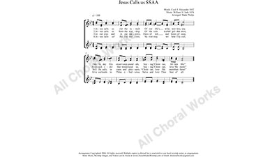 Jesus Calls Us Female Choir Sheet Music SSAA 4-part Make unlimited copies of sheet music and the practice music.