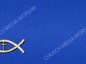 Jesus Fish Cross Symbol - Blue Christian Background Images HD