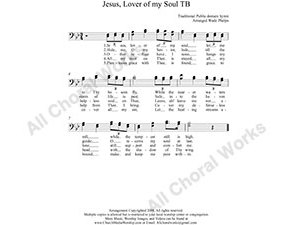 Jesus Lover of my soul Male Choir Sheet Music TB 2-part Make unlimited copies of sheet music and the practice music.