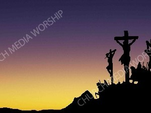 JesusCrossSillouettetosunsetbackground Christian Worship Background. High quality worship images for use to spread the Gospel and enhance the worship experience.